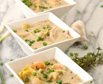 Shrimp (or Chicken) and Artichoke Soup!
