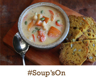 #Soup'son: Weeknight Stew with Blue Cheese Rolls