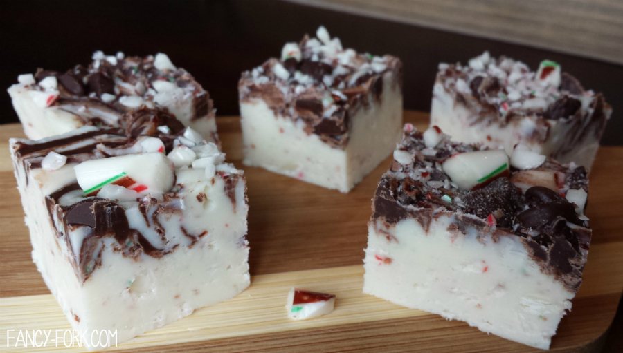 Candy Cane White Chocolate Fudge