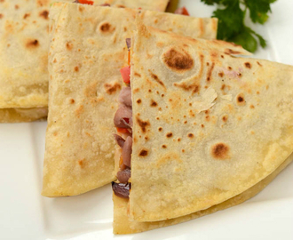 Bean Quesadillas Recipe | Easy Kidney Bean Quesadilla Using Homemade Tortillas
