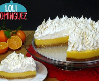 Tarta de mandarina y merengue suizo (Orange pie) Mi receta nº 500
