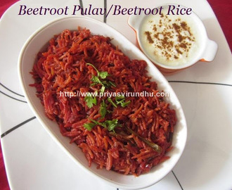 Beetroot Pulav/Beetroot Rice/How to make Beetroot Pulav – Easy Lunch Box Recipe