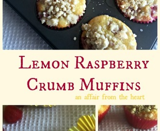 Lemon Raspberry Crumb Muffins