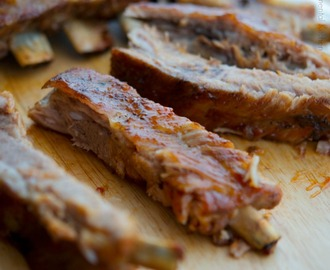 Ribs with Whiskey Maple BBQ Sauce