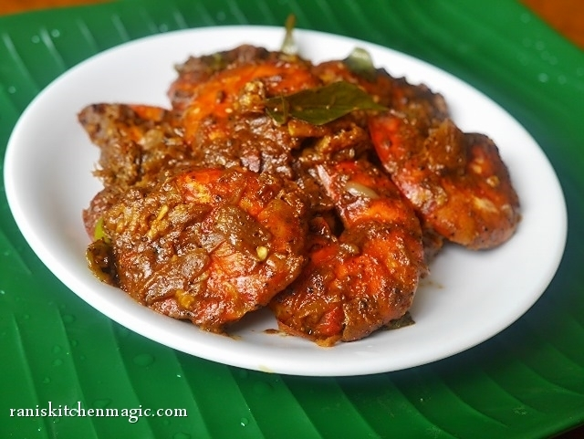 Naadan Konju Roast (Spicy Prawn Roast Kerala Style)