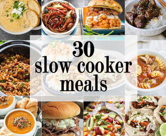 30 Slow Cooker Meals