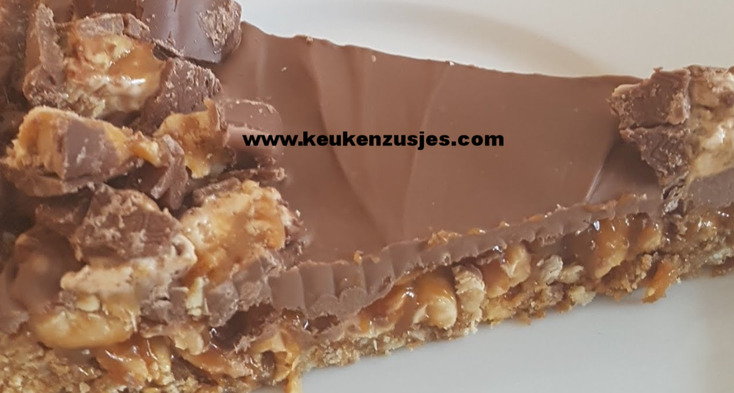 no bake snickerscake geen no bake cheesecake snickerstaart snickertarte