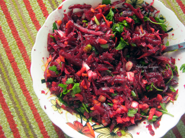 Raw Beet and Carrot Salad