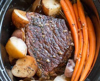 Balsamic Beef Roast and Veggies