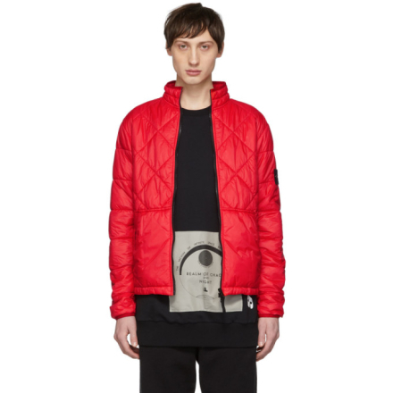 Stone Island Red Quilted Jacket