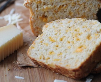 Cheesy Onion and Garlic Quick Bread (No Yeast)