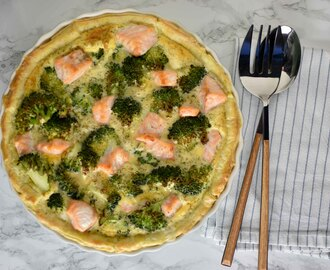 Broccoli zalm quiche