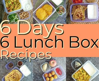 Lunch Box Recipes Menu | 6 Days 6 Lunch Box Recipes