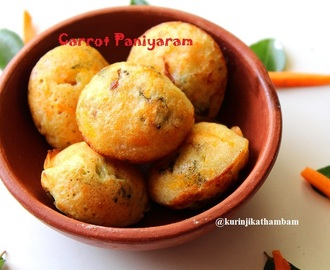 Carrot Paniyaram | Paniyaram Recipes