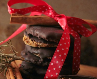 ricetta del Chocolate Brushed Lebkuchen all'arancia candita