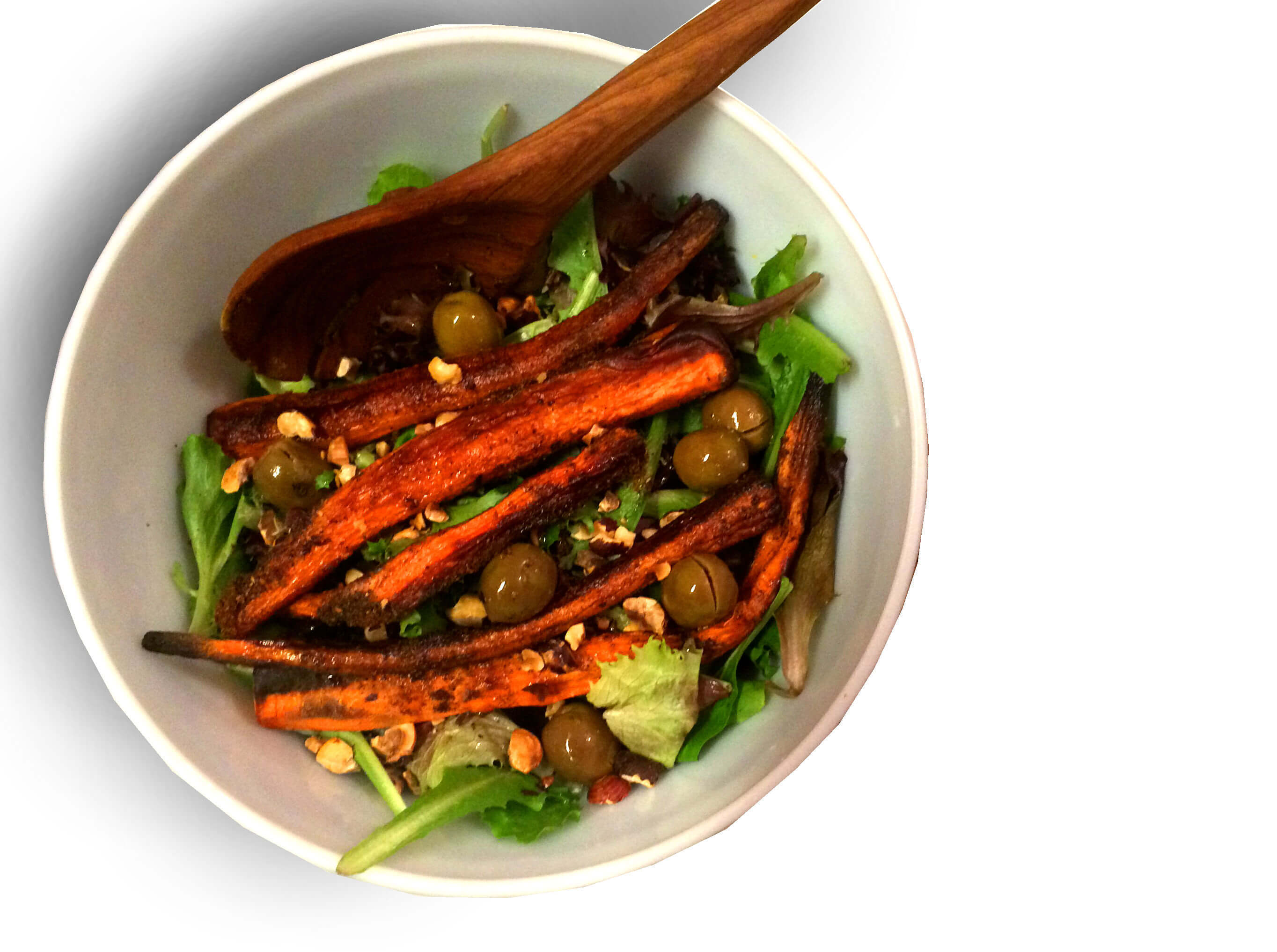 SUMAC CARROT SALAD WITH ALMONDS & OLIVES