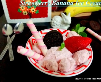 Strawberry Banana Ice Cream - A super easy and delicious dessert!