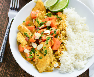 Almond Chicken and Sweet Potato Curry