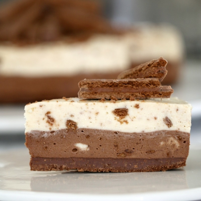 No-Bake Double Layer Tim Tam Cheesecake