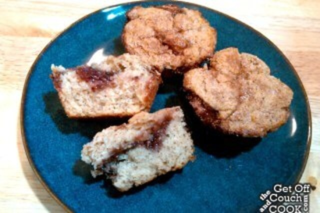 Strawberry Jam Cinnamon Muffins