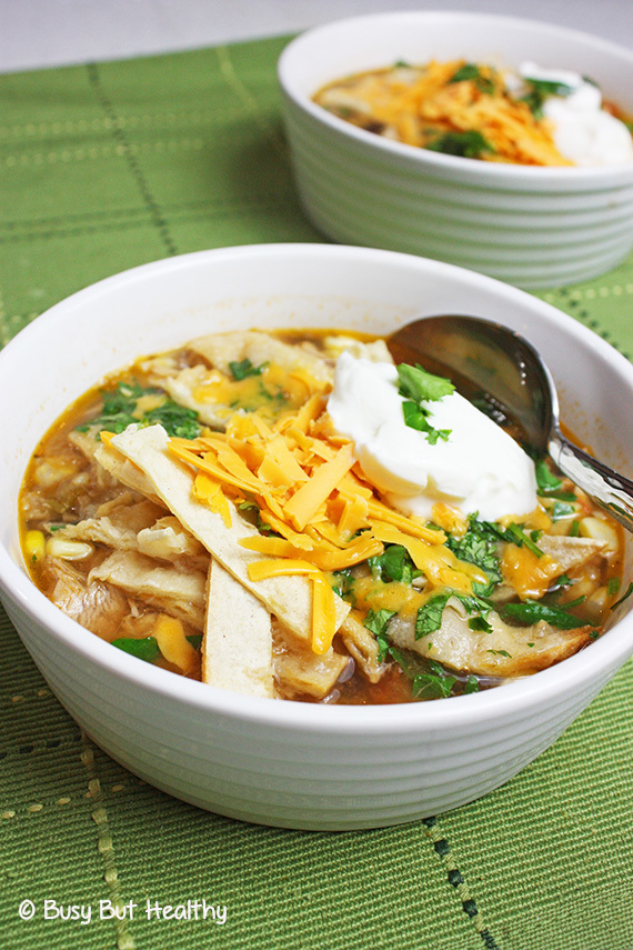 Healthy Turkey Tortilla Soup