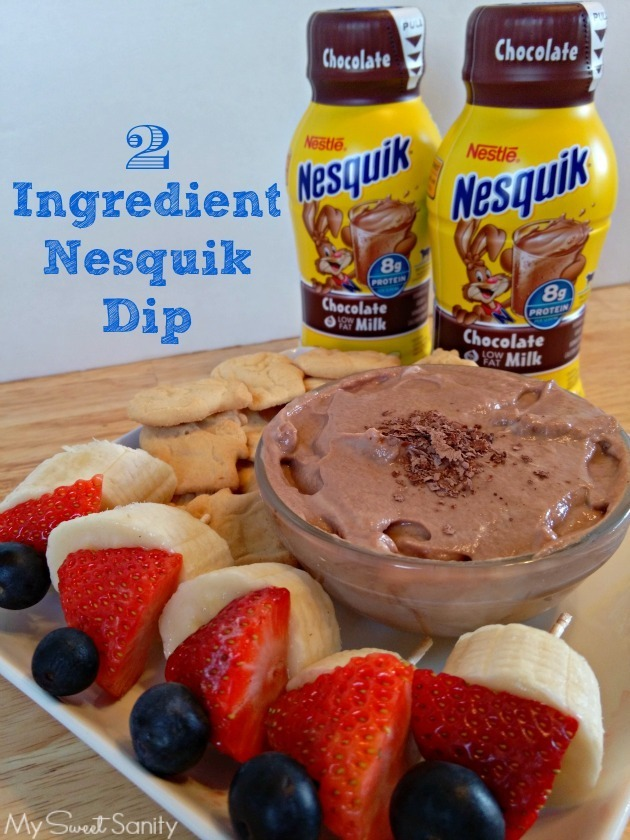 Kid Friendly Snack Idea – Two Ingredient Nesquik Fruit Dip