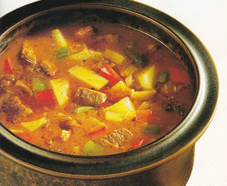 Hungarian GOULASH from the cooking pot