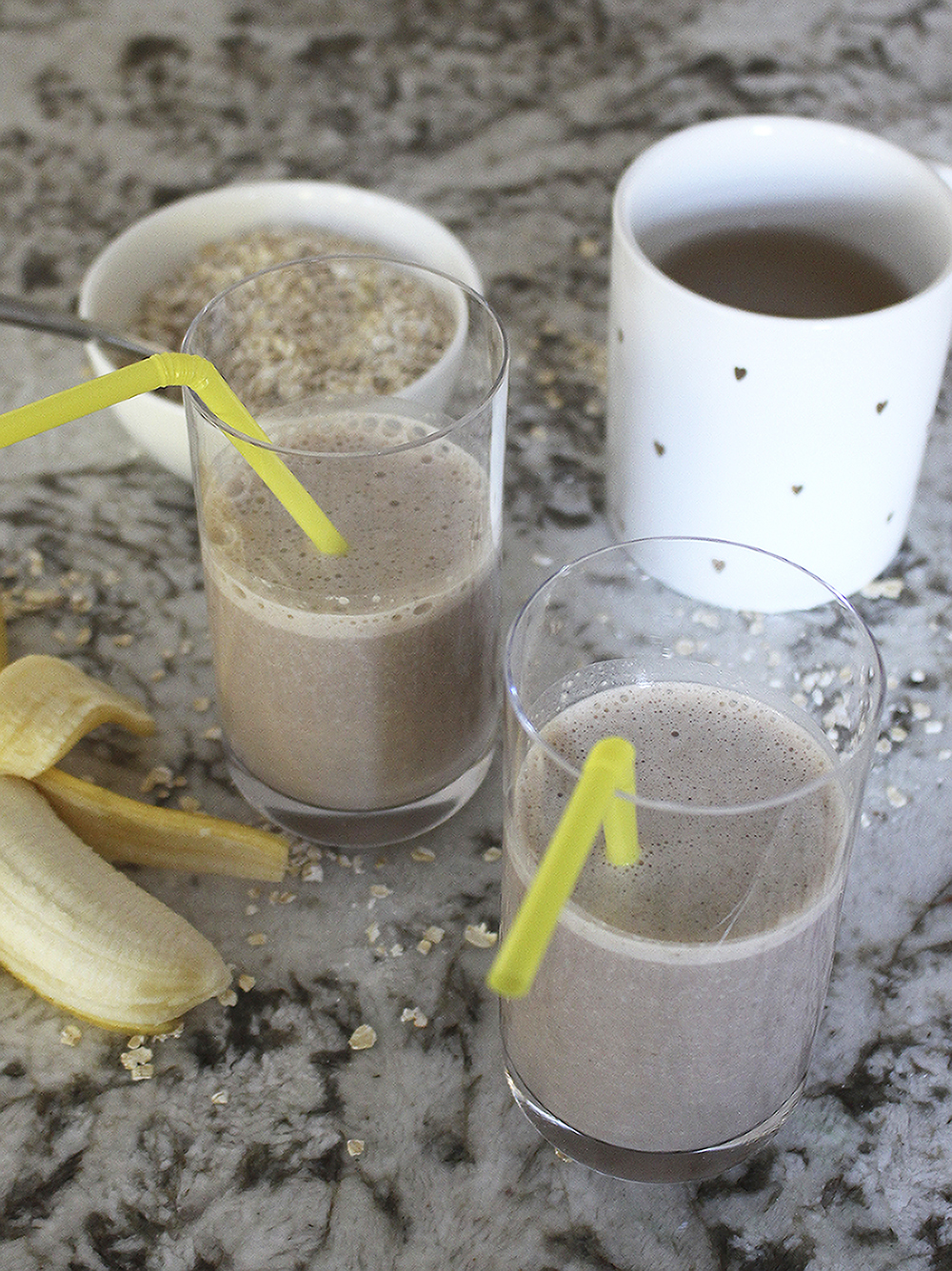 banana chocolate breakfast smoothie