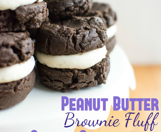 Peanut Butter Brownie Fluff Cookie Sandwiches