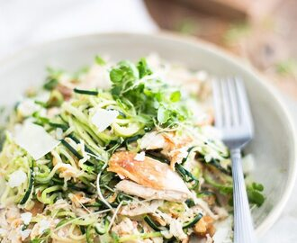 Parmesan and Chicken Zoodles