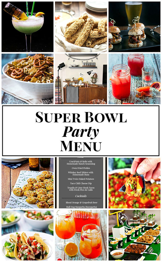 Super Bowl Party Menu