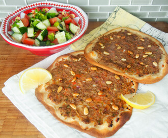 Lahmacun – Turkish flatbread #SundaySupper