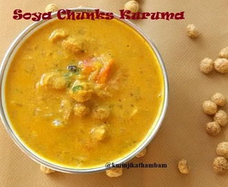 Soya Chunks Kuruma / Meal Maker Gravy | Side dish for chapathi