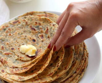 Pudina Paratha Recipe (Mint Lachha Paratha), How to make Mint Paratha