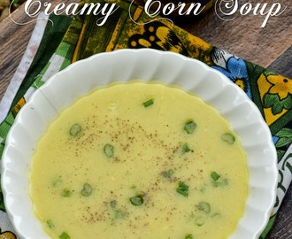 Creamy Corn Soup - Step by step