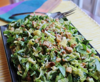 Shaved Brussel Sprouts and Kale Salad