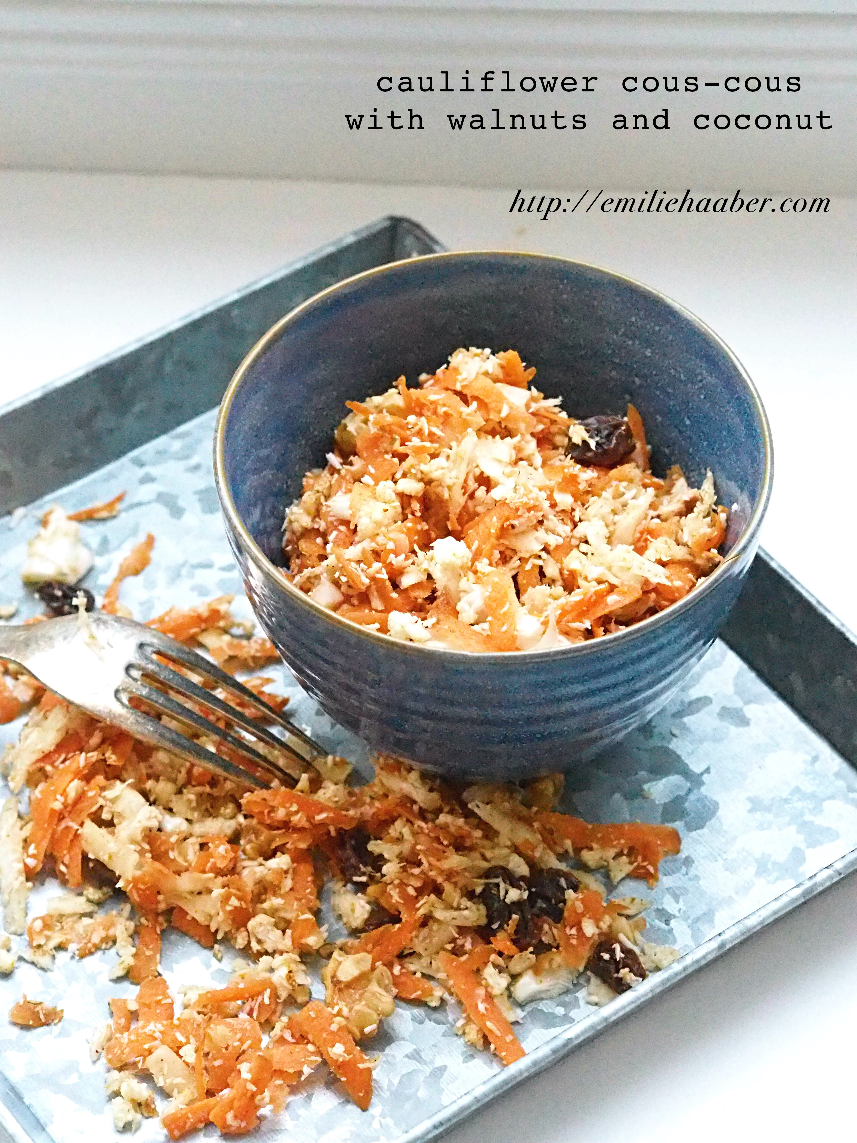 Easy Healthy Lunch #5: Cauliflower Couscous With Curry And Coconut