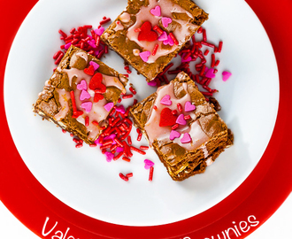 Valentine Brownies with White Chocolate and Blood Orange Glaze (Gluten-Free)