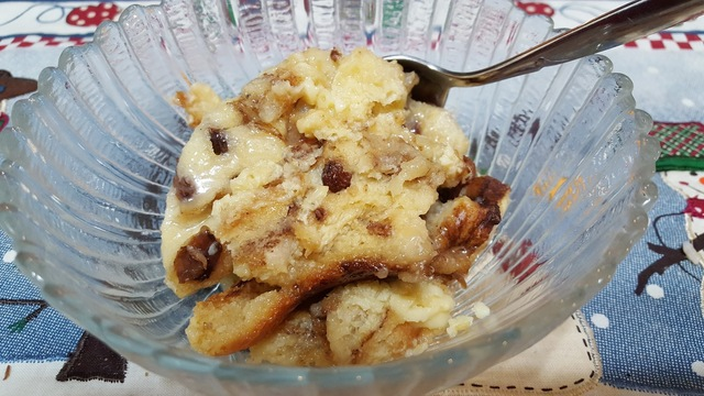 EASIEST AND BESTEST EVER BREAD PUDDING (SLOW COOKER)