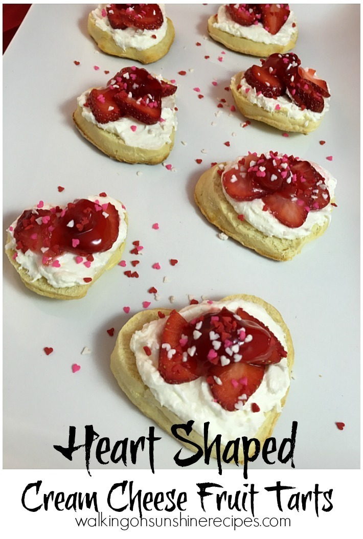 Heart Shaped Cream Cheese Fruit Tarts