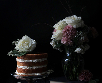 Orange and Cardamom Cake with Rose Swiss Meringue Buttercream