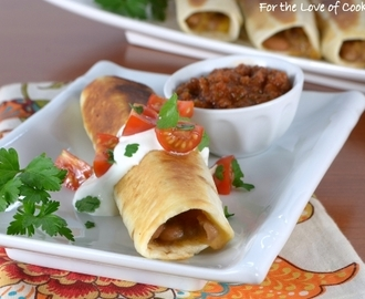 Homemade Refried Bean and Cheese Flautas and Giveaway Winner!