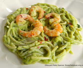 Avocado Shrimp Pasta