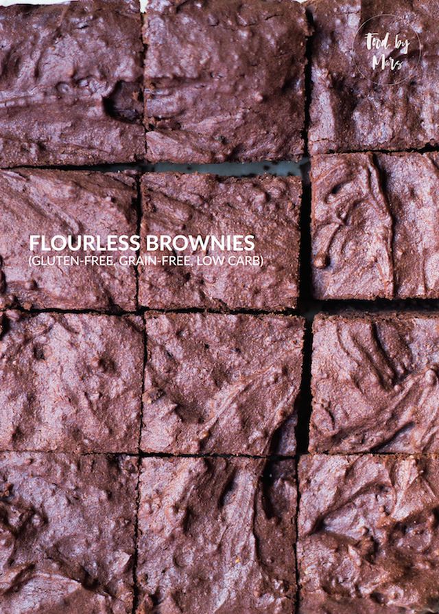 Flourless Brownies (grain-free, gluten-free, low carb)