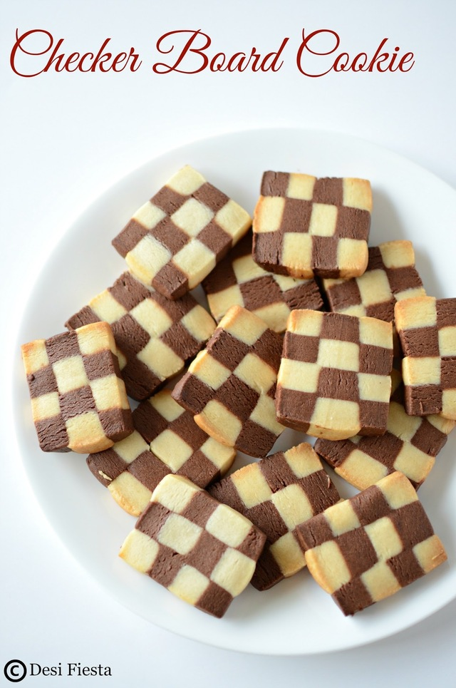 Checkerboard Cookie | Vanilla Chocolate Checkerboard Cookie