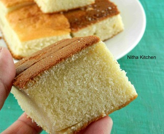 Hot Milk Cake Recipe | Step by step tutorial to make plain Vanilla sponge cake using hot milk