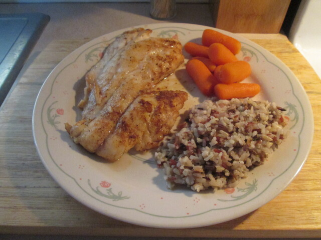 Blackened Gulf Coast Grouper w/ Multi Grain Medley and Baby Carrots