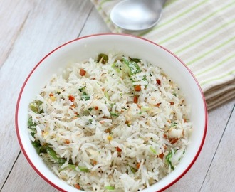 Coconut Rice Recipe (Thengai Sadam), How to make South Indian Coconut Rice