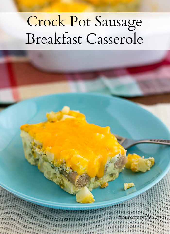Crock Pot Sausage Breakfast Casserole #CrockPotFriday
