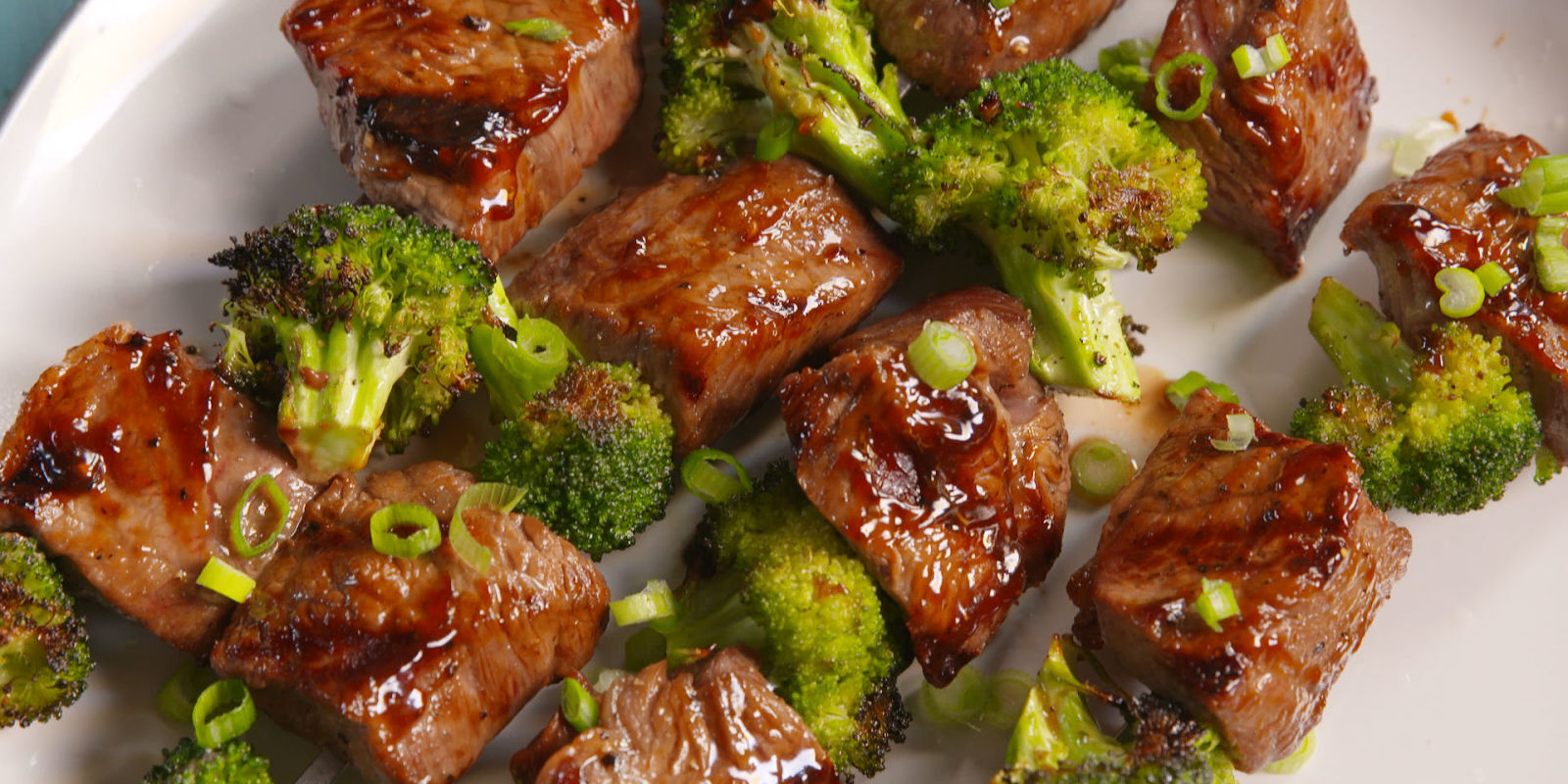 Beef & Broccoli Kebabs